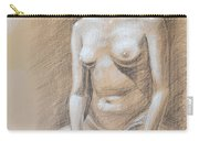 Seated Model Drawing  Carry-all Pouch