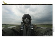 Self-portrait Of An Aerial Combat Carry-all Pouch