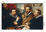 Selfportrait With Brother Philipp Justus Lipsius And Another Scholar Carry-all Pouch