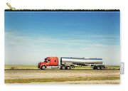 Semi Truck Moving On The Highway Carry-all Pouch