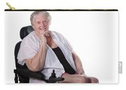 Senior Woman In Wheel Chair Carry-all Pouch