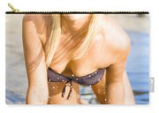 Sensuous Woman Playing With Water Carry-all Pouch
