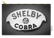 Shelby Ac Cobra Emblem -0282bw Carry-all Pouch