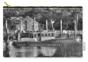 Shem Creek In Black And White Carry-all Pouch