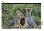 Silver-backed Jackal Pups Carry-all Pouch