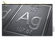 Silver Chemical Element Carry-all Pouch