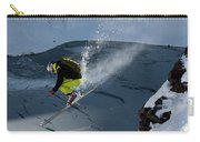 Skier Jumping On A Sunny Day Carry-all Pouch