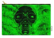 Skull In Green Carry-all Pouch