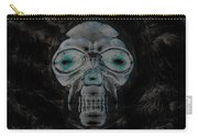Skull In Negative Carry-all Pouch