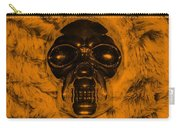 Skull In Orange Carry-all Pouch
