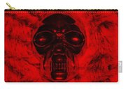 Skull In Red Carry-all Pouch