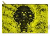 Skull In Yellow Carry-all Pouch