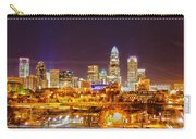 Skyline Of Uptown Charlotte North Carolina At Night Carry-all Pouch