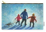 Sledding With Dad Carry-all Pouch