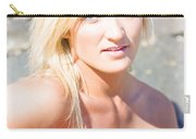 Smiling Female Guitarist Carry-all Pouch