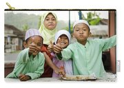 Smiling Muslim Children In Bali Indonesia Carry-all Pouch
