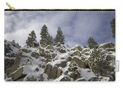 Snow Covered Cliffs And Trees Carry-all Pouch