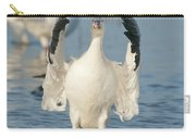 Snow Goose Flapping Skagit River Carry-all Pouch