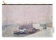 Snow In Rouen Carry-all Pouch