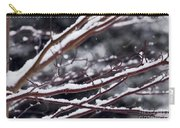 Snowfall And Tree Carry-all Pouch