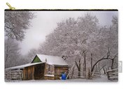 Snowy Day On The Farm Carry-all Pouch