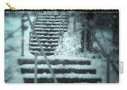 Snowy Stairway Carry-all Pouch