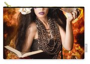 Sorcerer Casting Black Magic Spells Of Fire Carry-all Pouch