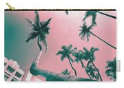 South Beach Miami Tropical Art Deco Wide Palms Carry-all Pouch