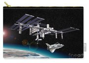 Space Station In Orbit Around Earth Carry-all Pouch