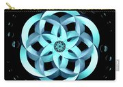 Spirit Of Water 1 - Blue With Water Drops Carry-all Pouch
