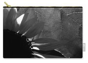 1 Sq Leafy Sun Shadows Bw Carry-all Pouch