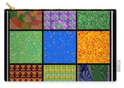 Square Texture Symbols Panel Style Art Decoration Green Blue Purple Orange Tiles Chinese Goodluck Gr Carry-all Pouch
