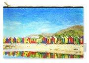 St James Beach Huts South Africa Carry-all Pouch