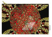 Stained Glass Kaleidoscope Under Glass Carry-all Pouch