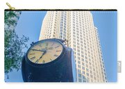 Standing By The Clock On City Intersection At Charlotte Downtown Carry-all Pouch