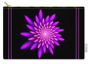 Starburst-32 Framed Black And Pink Carry-all Pouch