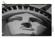Statue Of Liberty In Black And White Carry-all Pouch