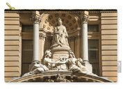 Statue Of Queen Victoria At Town Hall Of Sydney Australia Carry-all Pouch