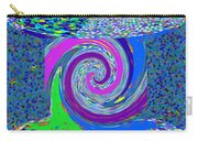 Stool Pie Chart Twirl Tornado Colorful Blue Sparkle Artistic Digital Navinjoshi Artist Created Image Carry-all Pouch