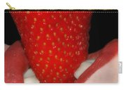 Strawberry Lips Carry-all Pouch by Joann Vitali