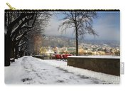 Street With Snow Carry-all Pouch