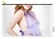 Stylish Woman In Purple Dress Carry-all Pouch
