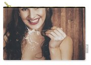 Summer Cafe Woman Eating Breakfast Cereal Carry-all Pouch