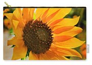 Sunflower With Texture Carry-all Pouch