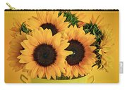 Sunflowers In Vase Carry-all Pouch by Elena Elisseeva