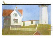 Sunny Day At Nubble Lighthouse Carry-all Pouch by Carol Leigh