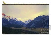 Sunrise On Aoraki Mount Cook In New Zealand Carry-all Pouch