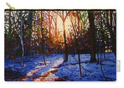 Sunset On Snow Carry-all Pouch