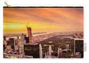 Sunset Over Central Park And The New York City Skyline Carry-all Pouch