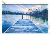 Sunset Over Lake Wylie At A Dock Carry-all Pouch